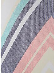 Super Soft Pastel Chevron Stripe Hi-Lo Maxi Dress, STRIPE - WHITE, alternate
