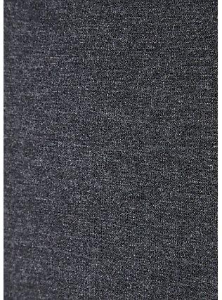 Plus Size Super Soft Charcoal Grey Culotte Jumpsuit, CHARCOAL HEATHER, alternate