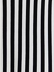 Super Soft Black & White Stripe Culotte Jumpsuit, STRIPE-BLACK WHITE, alternate
