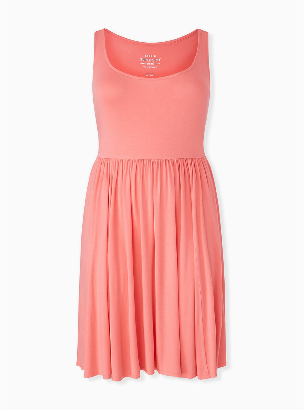 Super Soft Coral Skater Dress, WILD ORANGE, hi-res