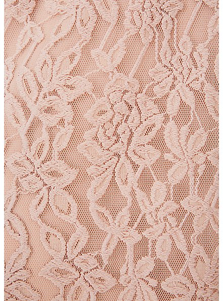 Pale Pink Lace Midi Dress, ROSE DUST, alternate