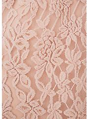 Plus Size Pale Pink Lace Midi Dress, ROSE DUST, alternate