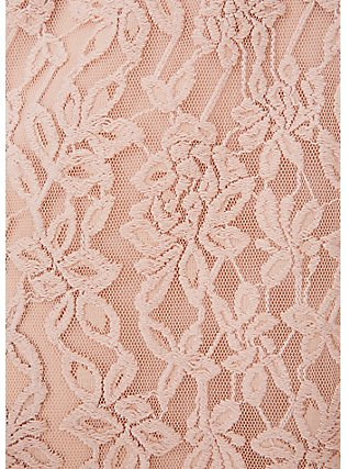 Pale Pink Lace Midi Dress, ROSE DUST, alternate