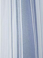 Super Soft Light Blue Stripe Strapless Skater Dress, STRIPE - BLUE, alternate