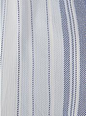 Light Blue Stripe Crinkled Gauze Crop Top & Maxi Skirt Set, STRIPE - BLUE, alternate