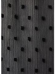Black Swiss Dot Tiered Kaftan, DEEP BLACK, alternate