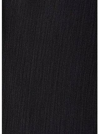 Black Crinkle Chiffon Kimono, DEEP BLACK, alternate