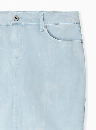 Denim Mini Skirt - Washed Light Blue , BABY BLUE, alternate