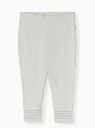 Crop Premium Legging - Shadow Stripe White, WHITE, alternate