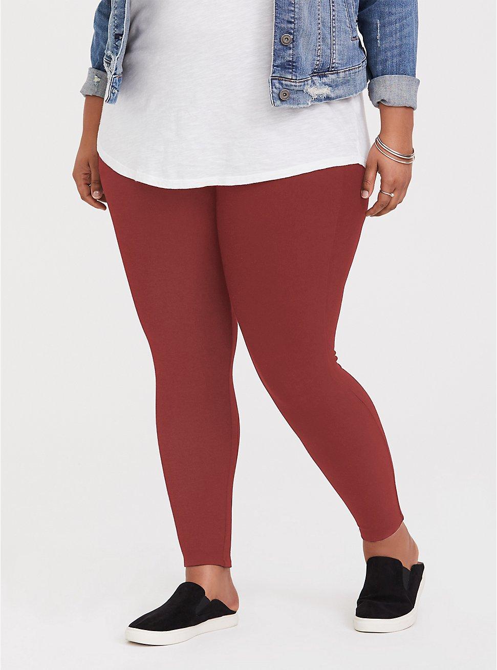 Premium Legging - Brick Red, BROWN, hi-res