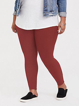 Premium Legging - Brick Red, BROWN, hi-res