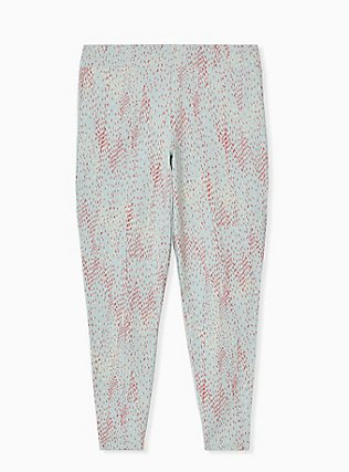 Premium Legging - Multi Dots & Mint Blue , GREY, alternate
