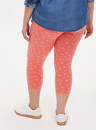 Capri Premium Legging - Triangle Coral, MULTI, alternate