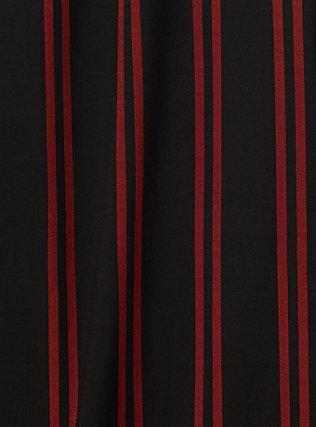Black & Red Stripe Challis Self Tie Wide Leg Pant, STRIPES, alternate