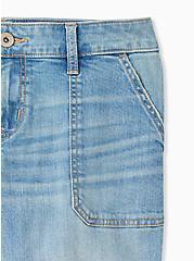 Crop Boyfriend Jean - Vintage Stretch Light Wash, GET LUCKY, alternate