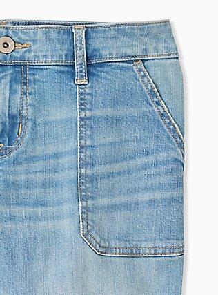 Plus Size Crop Boyfriend Jean - Vintage Stretch Light Wash, GET LUCKY, alternate