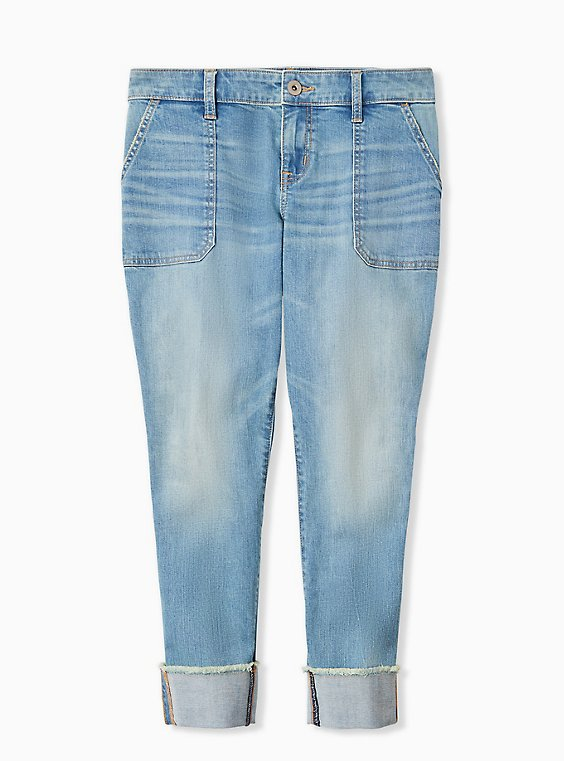 Plus Size Crop Boyfriend Jean - Vintage Stretch Light Wash, , hi-res