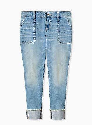 Crop Boyfriend Jean - Vintage Stretch Light Wash, GET LUCKY, hi-res