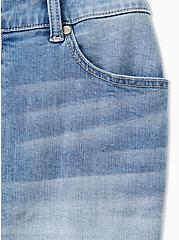 Plus Size High Rise Bermuda Short - Vintage Stretch Medium Wash, CITY GAMES, alternate