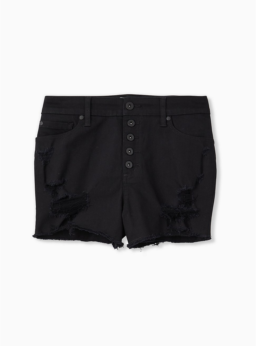 High Rise Short Short - Vintage Stretch Black, BLACK, hi-res