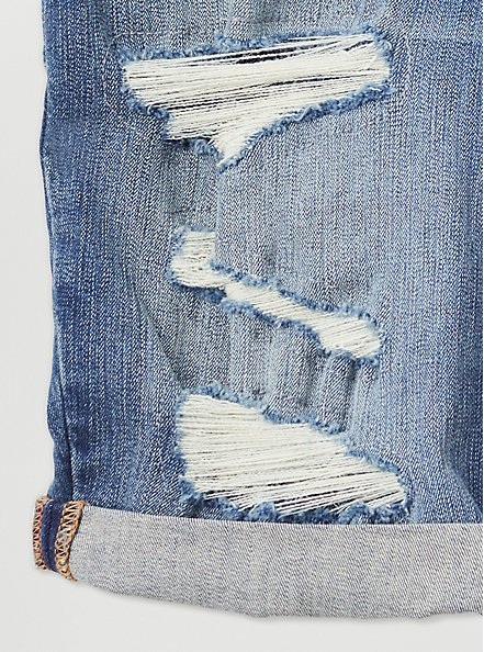 Low Rise Bermuda Short - Vintage Stretch Medium Wash, HANG TEN, alternate