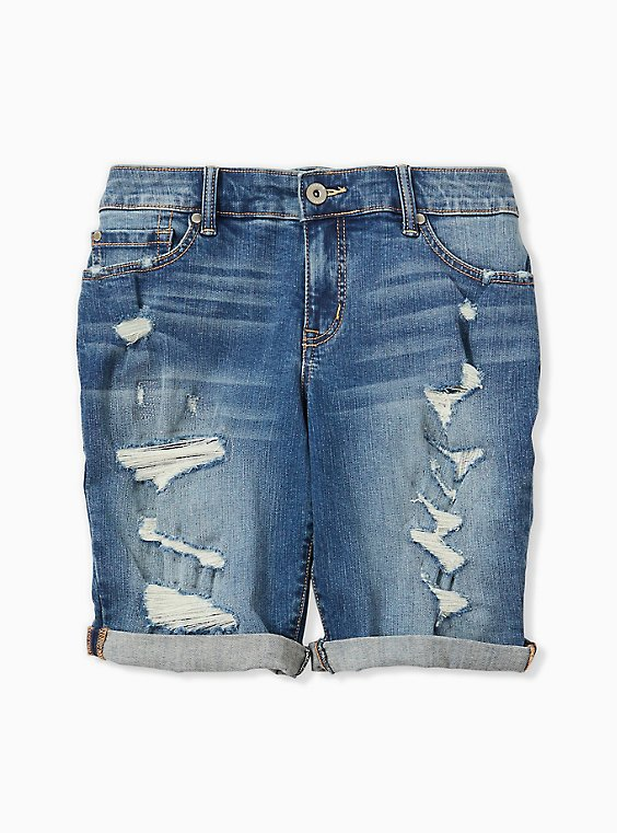 Low Rise Bermuda Short - Vintage Stretch Medium Wash, , hi-res