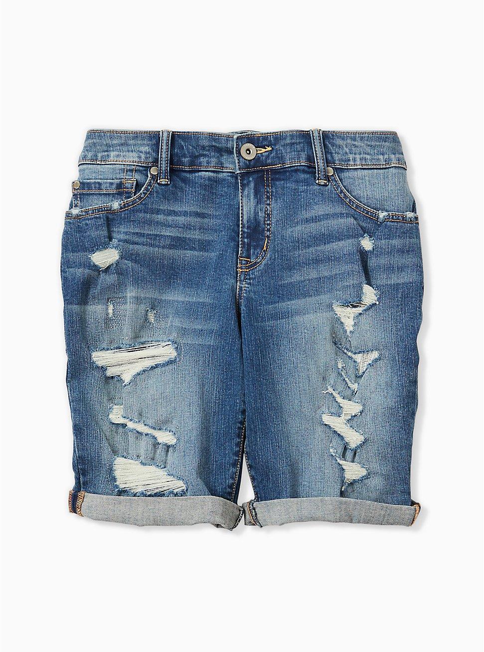 Low Rise Bermuda Short - Vintage Stretch Medium Wash, HANG TEN, hi-res