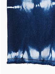 Plus Size Mid Short - Vintage Stretch Tie-Dye Navy , INDIGO TIE DYE, alternate