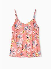 Sophie - Coral Floral Gauze Swing Cami, FLORAL - YELLOW, hi-res