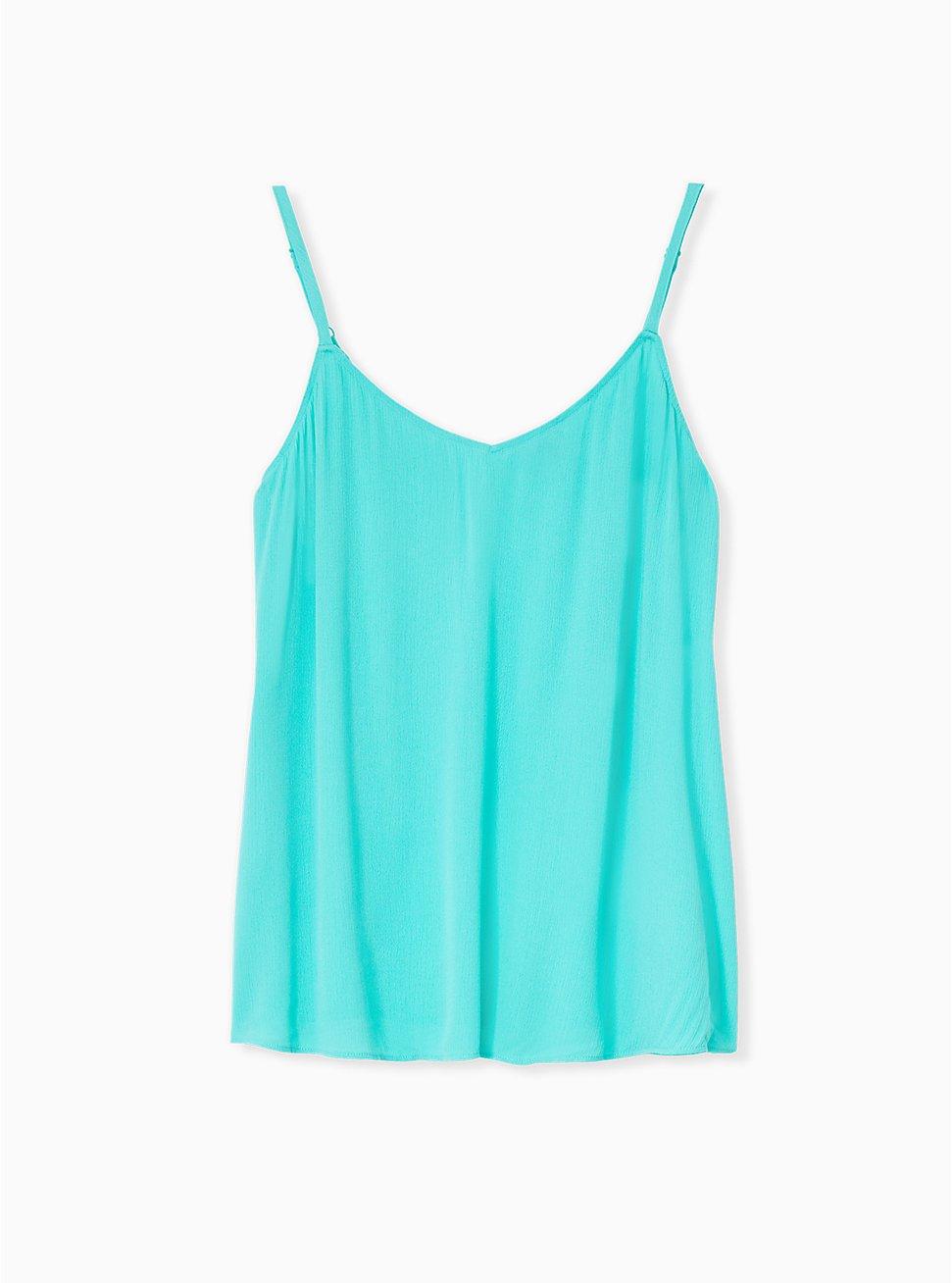 Sophie - Turquoise Gauze Swing Cami, AQUA GREEN, hi-res