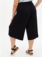 Super Soft Black Culotte Pant , DEEP BLACK, alternate
