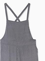 Shortall - Crepe Stripe Black, STRIPES, alternate
