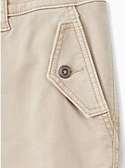 Military Short Short - Twill Khaki Brown, KHAKI, alternate