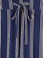 Navy & White Stripe Challis Drawstring Crop Jogger, STRIPES, alternate