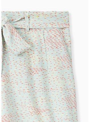 Tie Front Mid Short - Crepe Multi Dots & Mint Blue , DOT TEXTURE, alternate