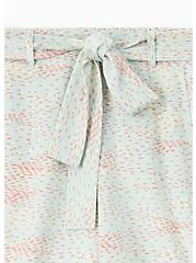 Self Tie Mid Short - Crepe Multi Dots & Mint Blue , DOT TEXTURE, alternate