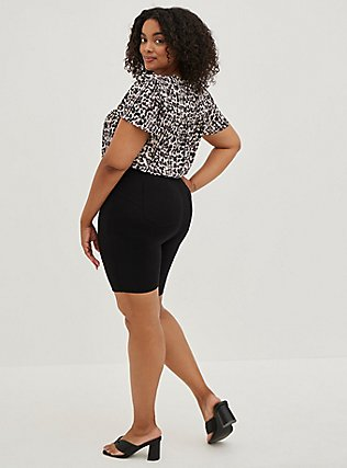 Bombshell Bermuda Short - Premium Ponte Black, DEEP BLACK, alternate
