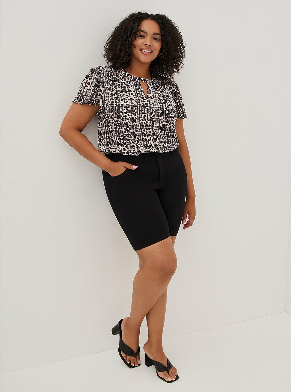 Bombshell Bermuda Short - Premium Ponte Black, DEEP BLACK, hi-res