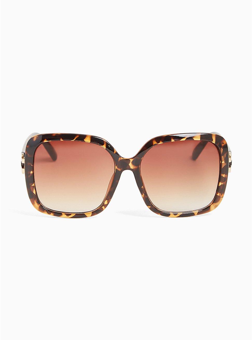 Tortoiseshell Oversized Square Sunglasses, , hi-res