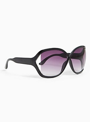 Black Classic Infinity Sunglasses, , alternate