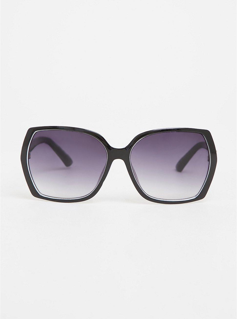 Black & White Rectangle Sunglasses, , hi-res