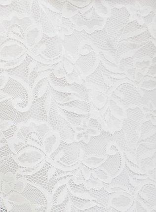White Lace Cold Shoulder Halter Top, CLOUD DANCER, alternate