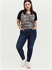 Classic Fit Raglan Tee - Featherlight Slub Camo Grey, CAMO, alternate
