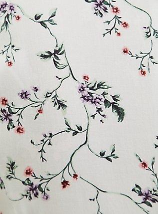 Light Stone Grey Floral Button Skater Dress, FLORALS-GREY, alternate