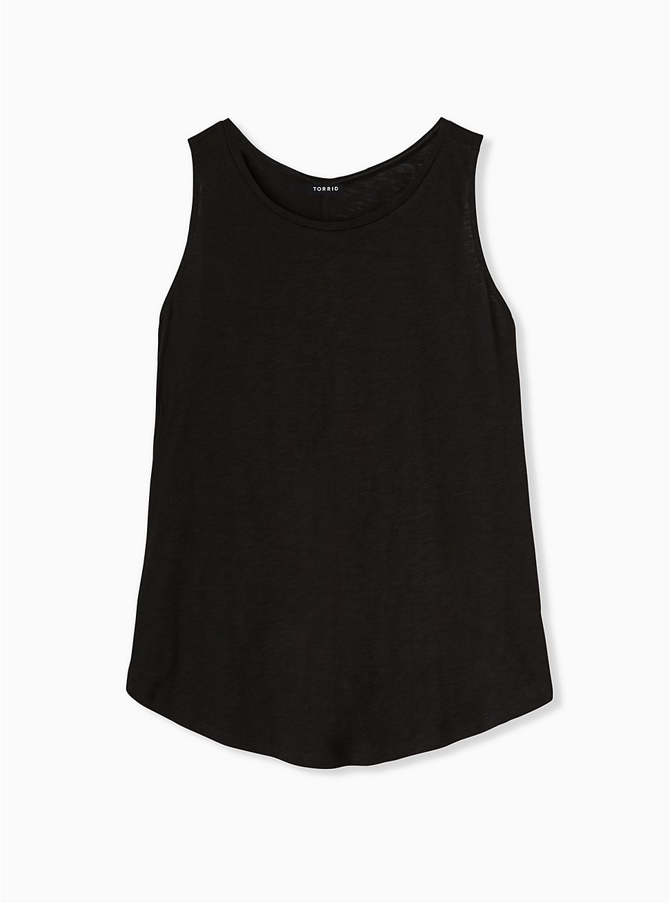 Plus Size Black Heritage Slub Classic Fit Crew Tank, DEEP BLACK, hi-res