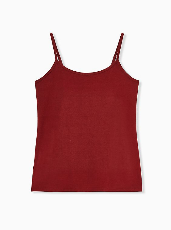 Brick Red Scoop Neck Foxy Cami, MADDER BROWN, hi-res