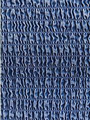 Blue Chambray Off Shoulder Smocked Skater Dress, CHAMBRAY, alternate