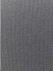 Grey Rib Twist Front Skater Dress, SMOKED PEARL, alternate
