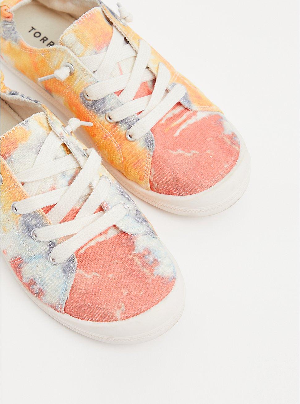 Riley - Multi Tie-Dye Ruched Sneaker (WW), MULTI, hi-res