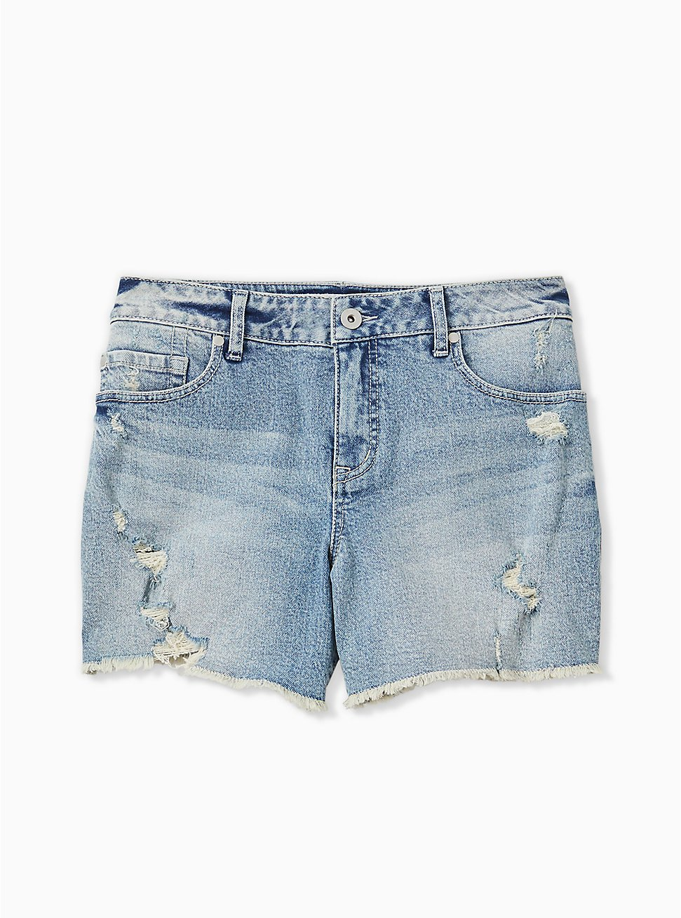 Mid Short - Medium Wash, WHATS YOUR DAMAGE, hi-res